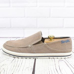 Simple Dare Canvas Loafers Slip On Sneakers 10.5